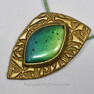 Faux Dichroic Glass and Polymer Clay Necklace