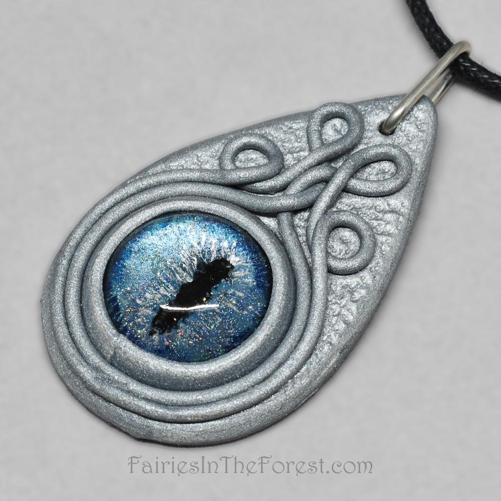 Christmas Polymer clay Dragon eye dragon necklace polymer clay necklace cosplay