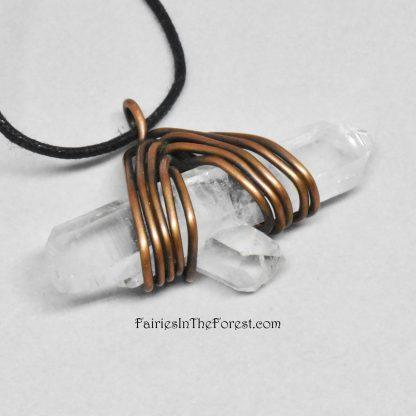 Handmade Quartz Crystal Point Necklace