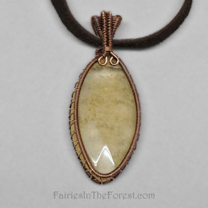 Pineapple Quartz and Copper Necklace