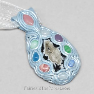 Multi-stone polymer clay necklace.