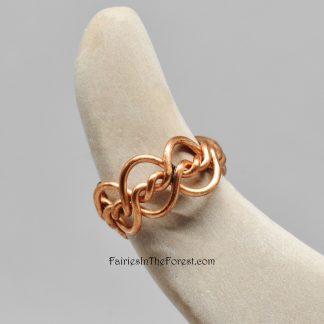 Copper Double Twist Ear Cuff