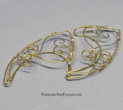 Gold and Silver Swirls Elf Ear - Pair